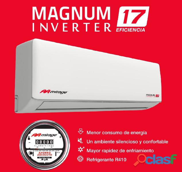 AIRE ACONDICIONADO MIRAGE MAGNUN 17 INVERTER DE 12.000 BTU 110V 6
