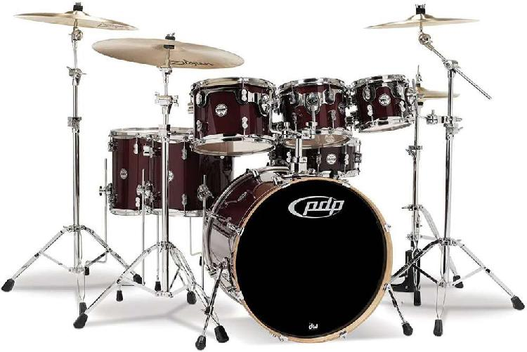 Batería - pdp pacific drums 7 piece maple shell set (red to