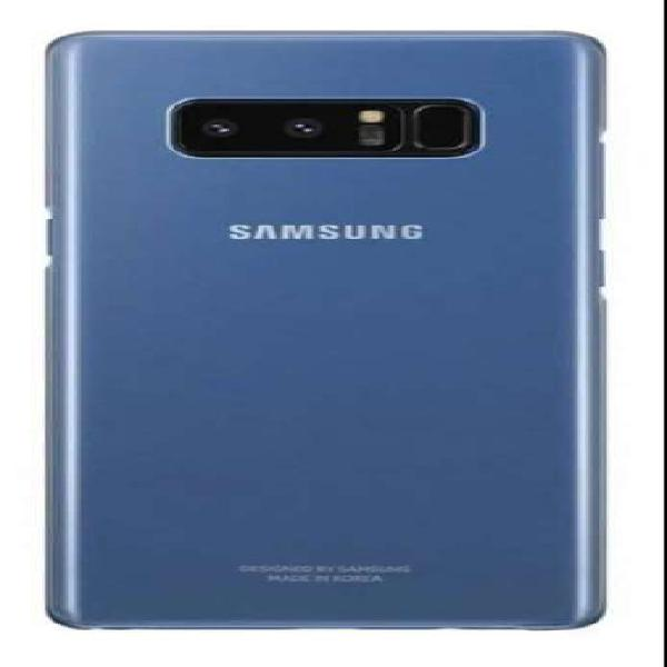 Clear cover celular galaxy note 8 azul transparente original