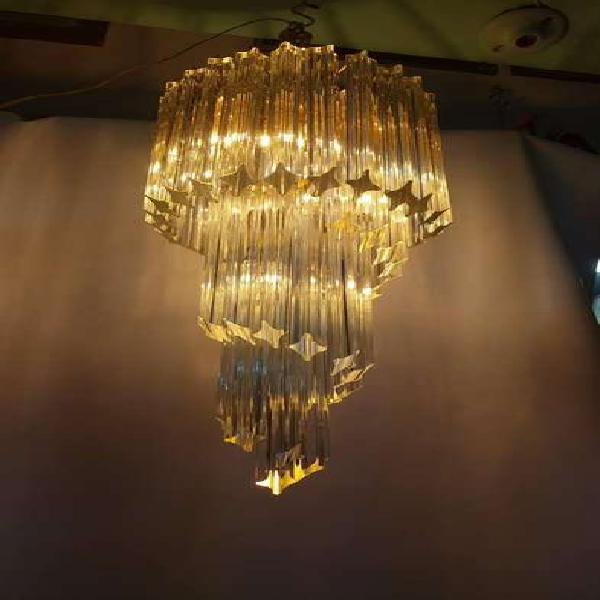 Lampara techo italiana antigua 1930 cristal murano