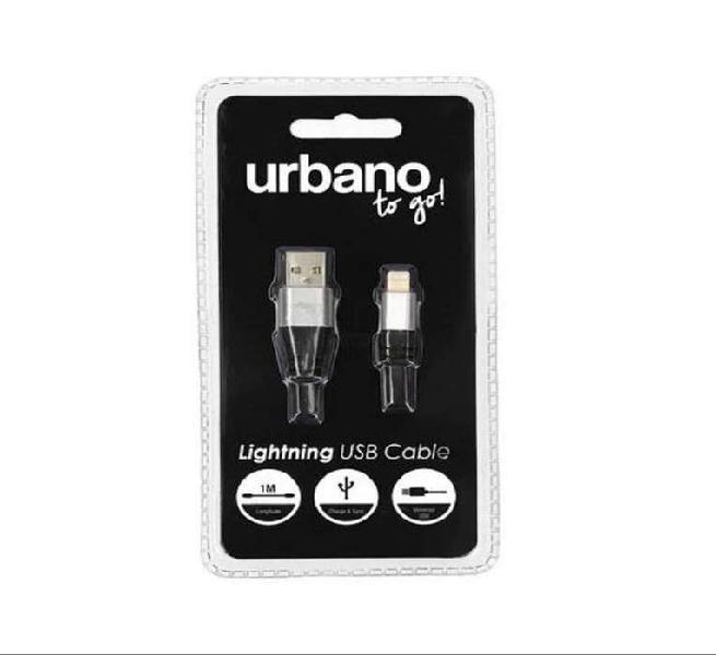 Cable usb iphone 5, 6, 7, 8, x, xr, xs, plus original urbano