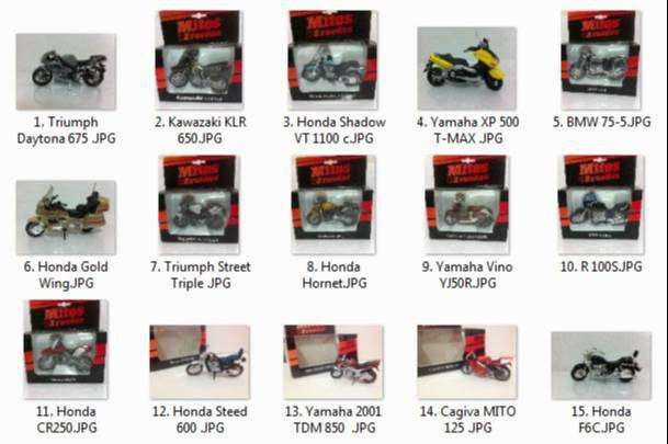 Colección de motos a escala
