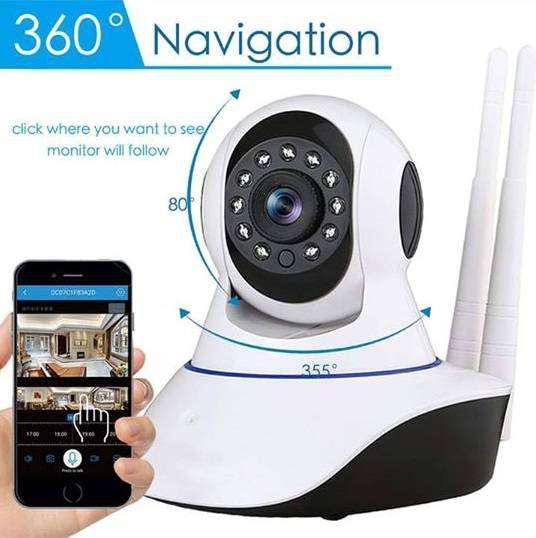 Cámara seguridad wifi para smartphone 360eyes ec7 s12