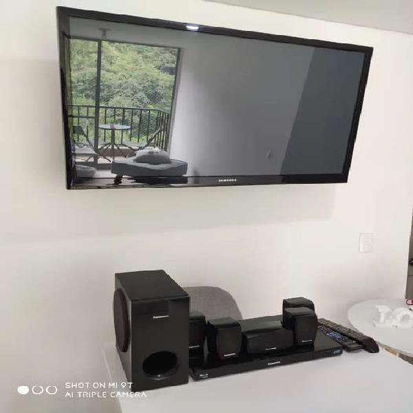 Tv samsung plasma + teatro en casa panasonic