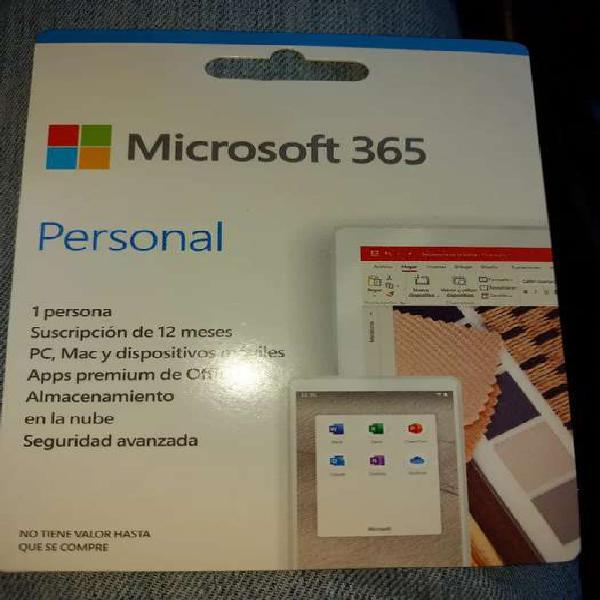 Licencia office 365 personal nuevo