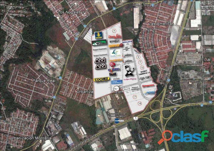 Venta de lote en tocumen el mejor parque industrial de panamá centro america cerca al mismo airport
