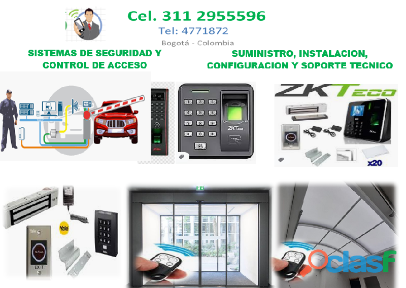 Control de acceso Bogotá, Suministro, instalación y programación de controles
