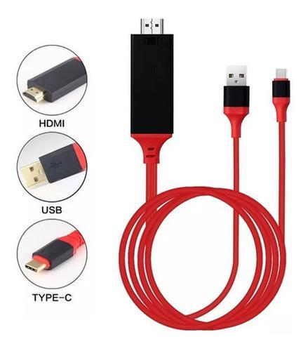 Cable hdmi tipo c usb 3.1 mhl dex emui mac samsung huawei