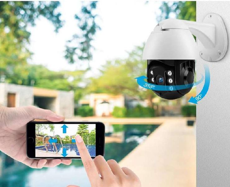 Cámara domo ip inalámbrica p2pwifi 1080p ptz al aire libre