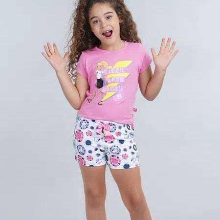 Pijama de niña color rosado