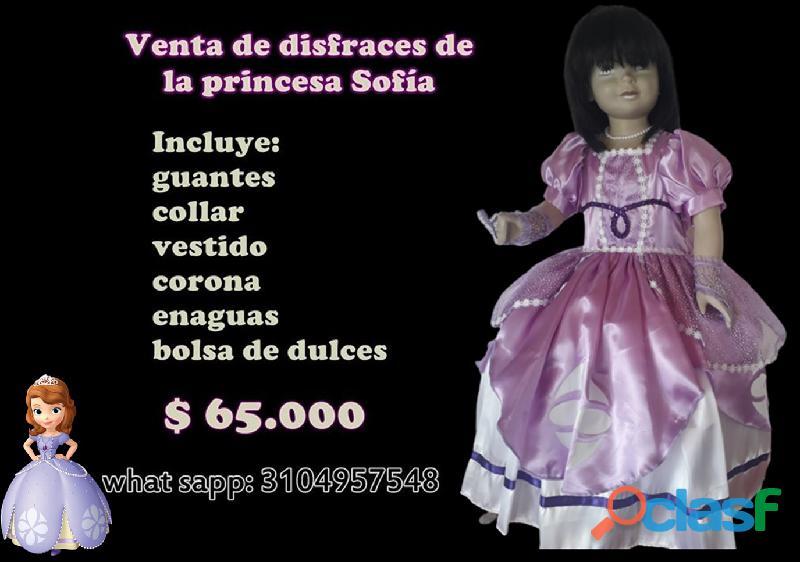 Venta de disfraces nuevos de la princesa sofia para niñas *