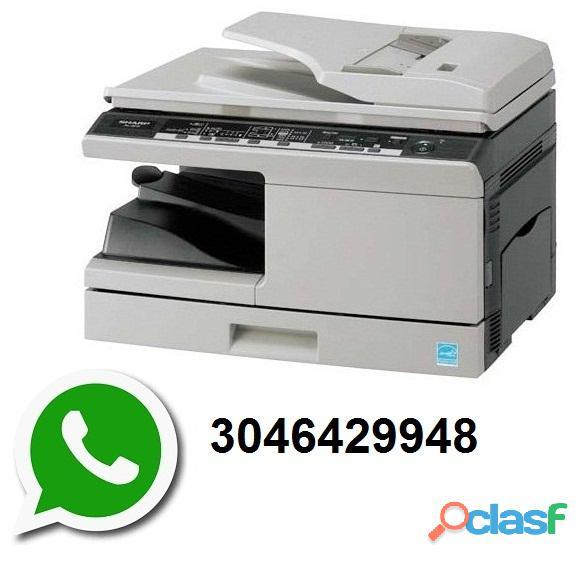 Servicio técnico reparación mantenimiento desbloqueo arreglo de impresoras y fotocopiadoras sharp