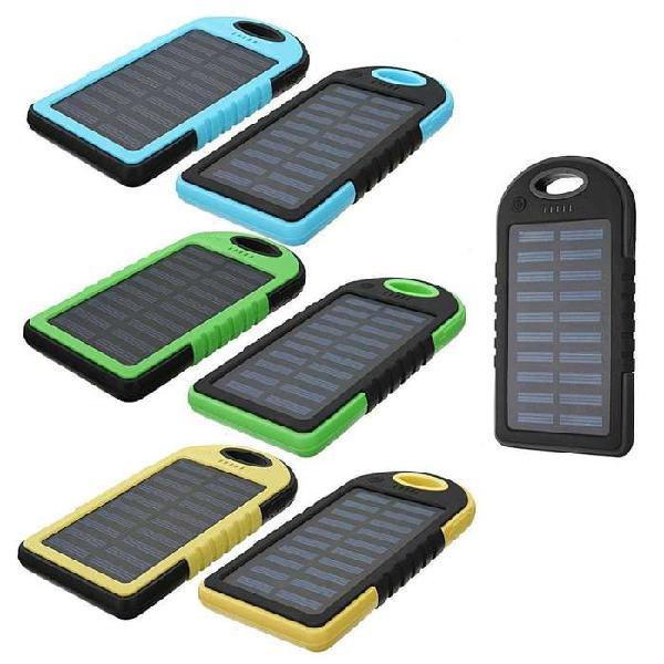Cargador para celular panel solar power bank bateria 5000