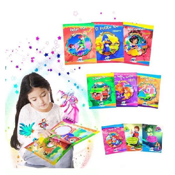 Libros infantiles cuentos guardería escolar x24