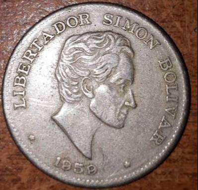 Se vende moneda antigua de 1959 del libertador simon bolivar