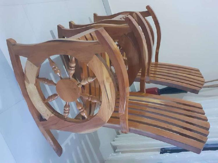 Sillas en madera teka...originales de sampues,color natiral