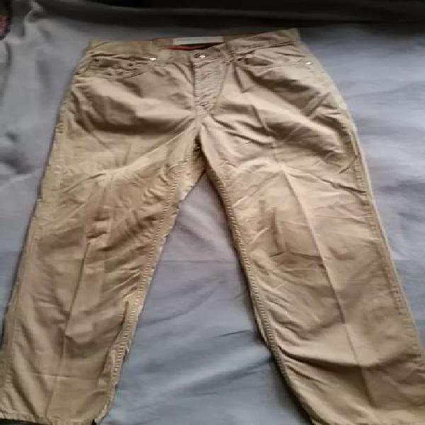 Pantalón drill beige perry ellis cottons talla 30/30