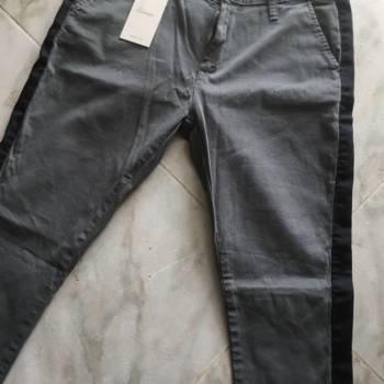 Pantalón skiny lateral negro talla 12