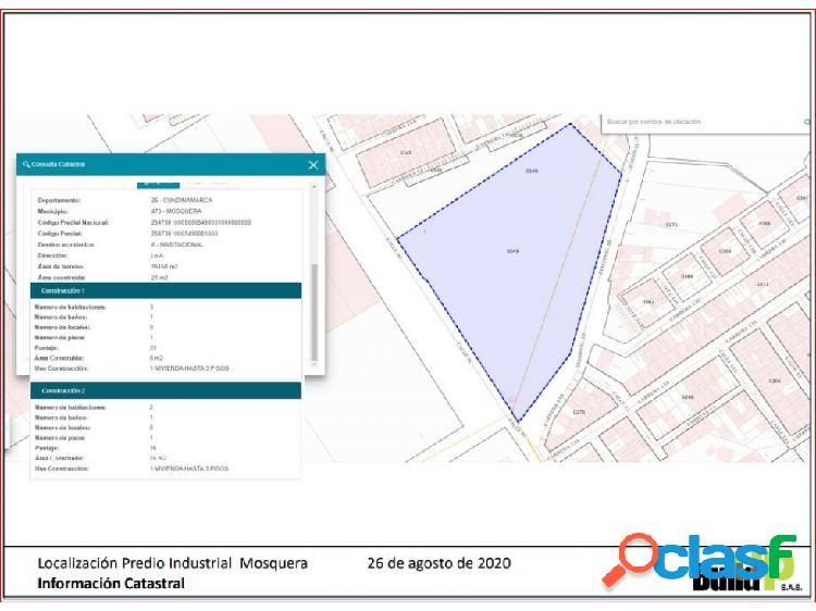 Venta lote en parque industrial - mosquera - 14.000 m2