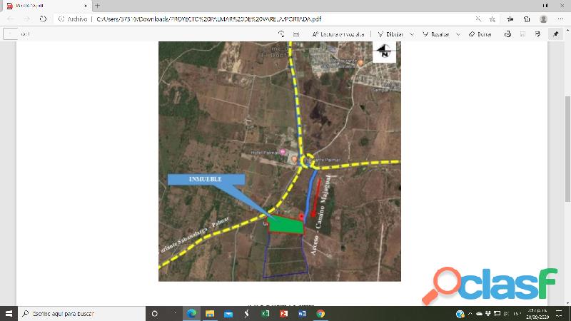 Palmar De Varela Vendo Lote mas Proyecto Parque Empresarial