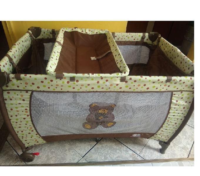Cuna corral baby boogy con colchoneta,cambiador y toldillo