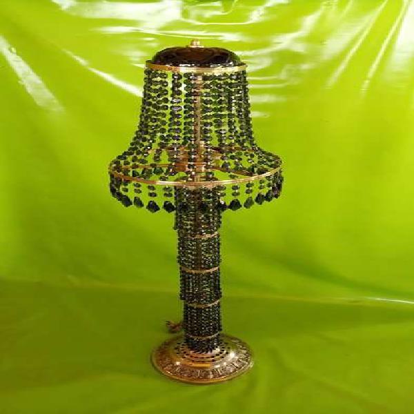 Lampara pie antigua veneciana 1940 cristal murano y bronce