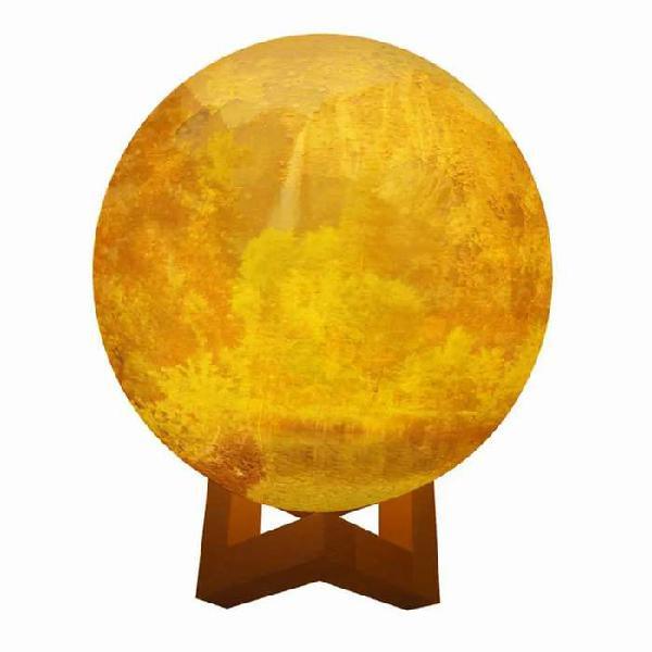 Lampara led luna 3d blanca luz moon lamp