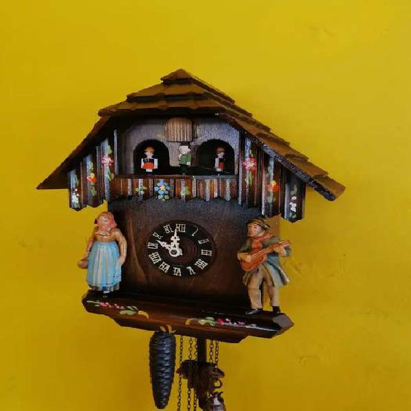 Reloj cucu antiguo germany 1930 musical de cuerda con