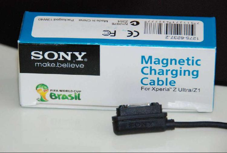 Cable sony magnético original color negro para celulares