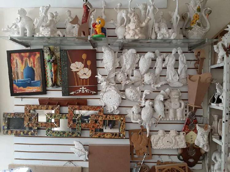 Remate de ceramica, yeso y mdf