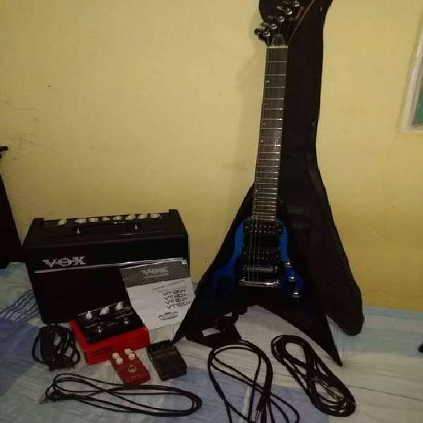 Guitarra eléctrica flying v