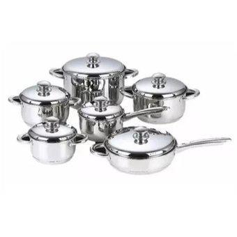 Bateria 12 piezas cocina ollas acero inoxidable lujo