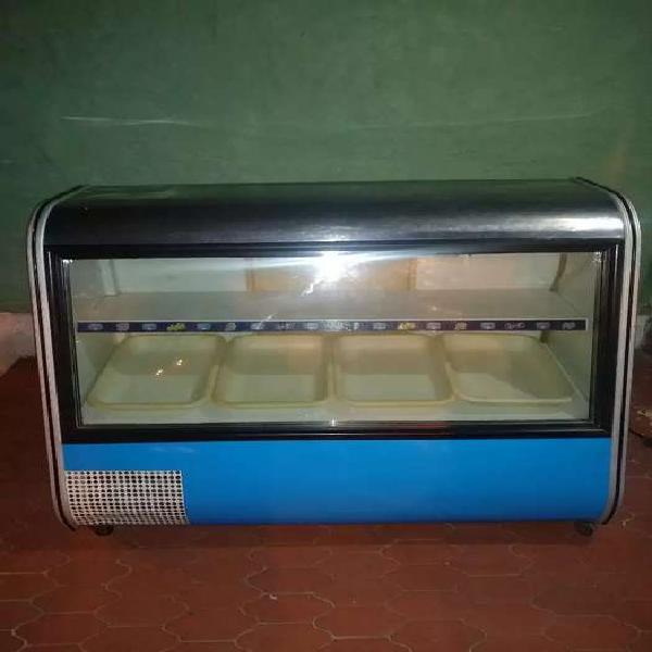 Nevera exhibidora enfriadora con congelador