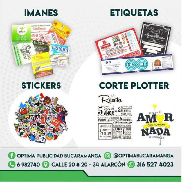 imanes - etiquetas - stickers - corte plotter