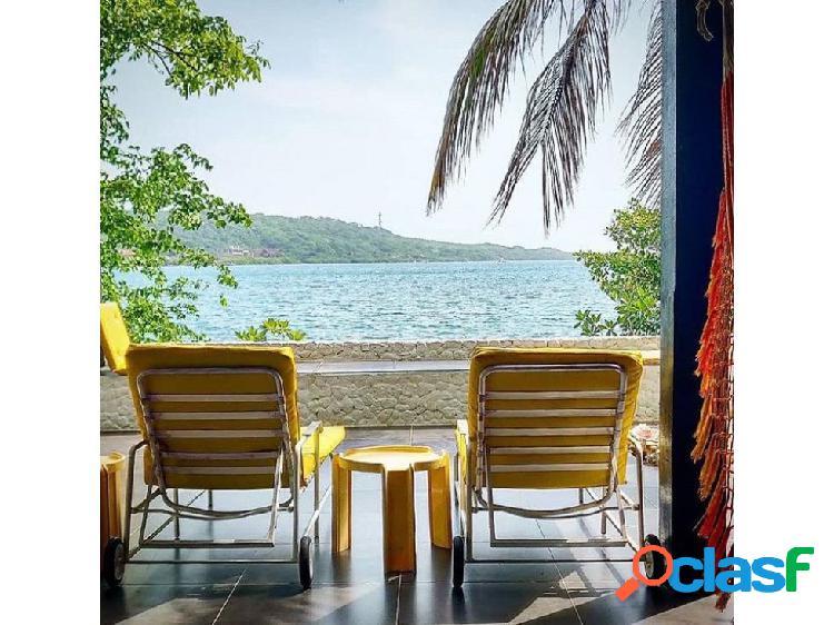 Hermosa cabaña de playa para la renta vip isla cholon cartagena