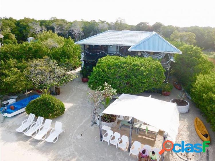 Linda cabaña de playa en renta isla de baru colombia