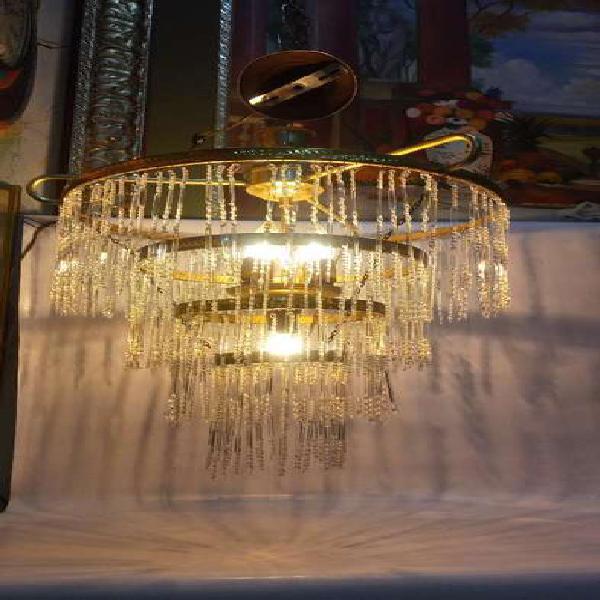 Lámpara techo antigua france 40's crista