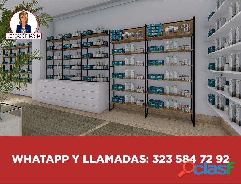 Farmacias, vitrinas, muebles 2