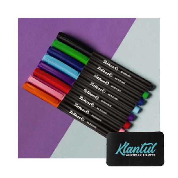 Set x 8 micropunta colores surtidos Pelikan
