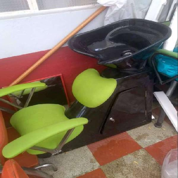 Silla de manicure y pedicure dos en una, y una silla lava