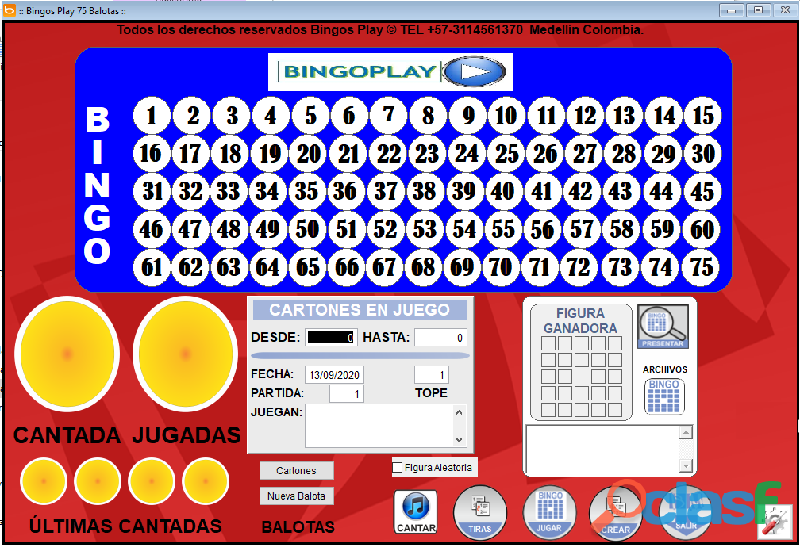 SOFTWARE DE BINGO VIRTUAL