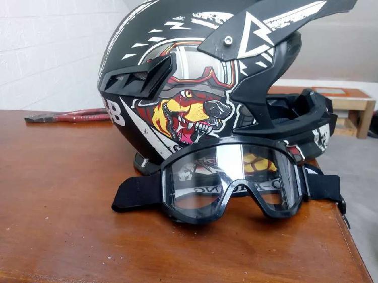 Casco para motocross o bici cross