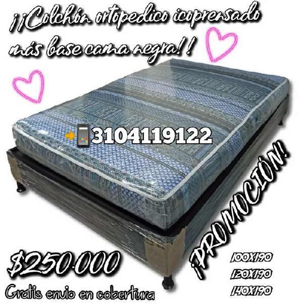 Oferta base cama + colchón ortopedico