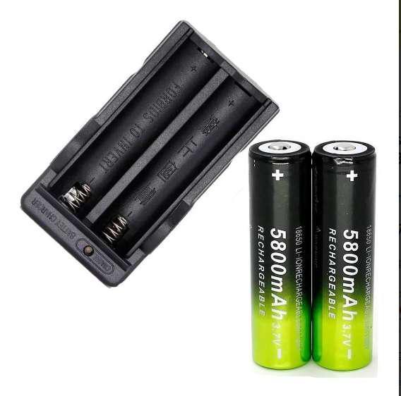 2 pilas litio recargables 3.7v 18650 + cargador doble