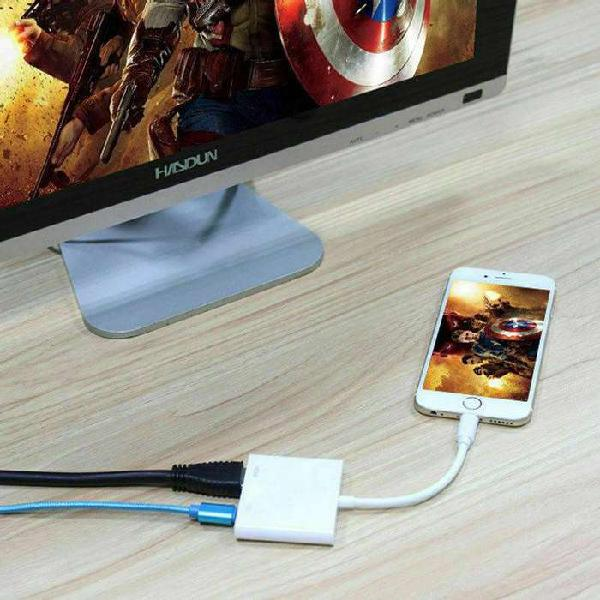 Cable adaptador mhl a hdmi compatible para iphone
