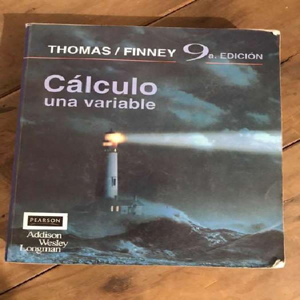 Cálculo de una variable, thomas/ finney