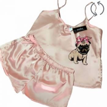 Pijama satin con perrito