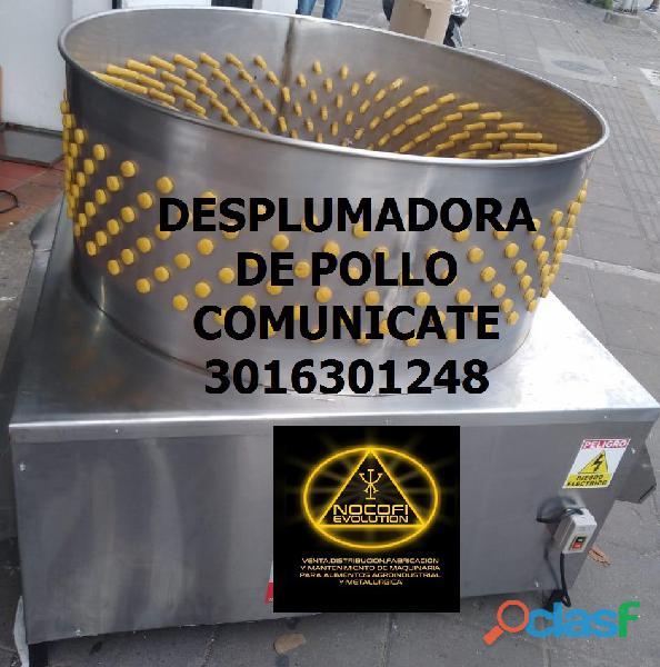 DESPLUMADORA DE POLLO CONOS DE SACRIFICIO DESPRESADOR ESCALDADOR FREIDOR ESTUFA INDUSTRIAL