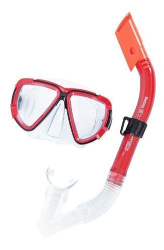 Kit Careta + Snorkel Para Buceo Piscina Playa 24029