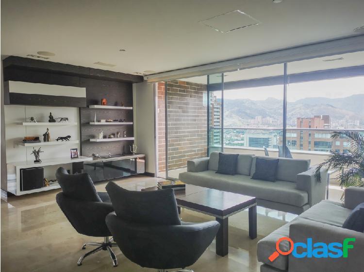 Apartamento para la venta poblado alejandría, piso alto modero.
